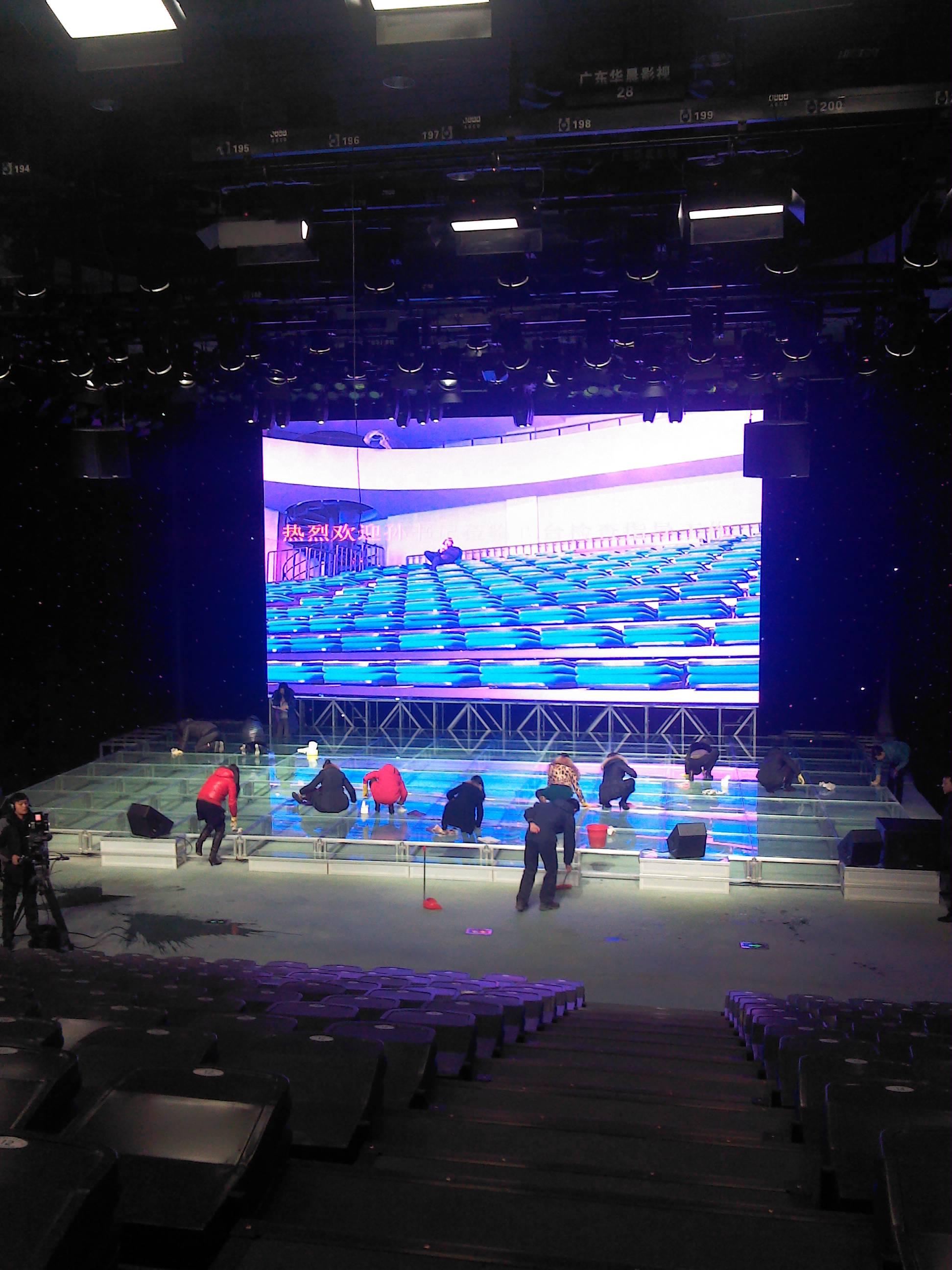 葫芦岛电视台p6户内舞台屏 66平方米